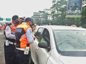 Jumlah Pelanggar PSBB Kian Menurun di Simpang Ciawi