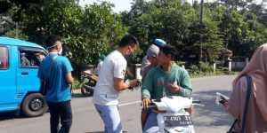 Ikatan Mahasiswa Tanjungsari, Siap Bagikan 700 Masker Bagi Pengendara