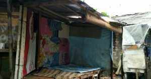Kondisi rumah Nata (46) berdomisili di wilayah RT 03/09 Kelurahan Kedungbadak, Kecamatan Tanah Sareal Kota Bogor