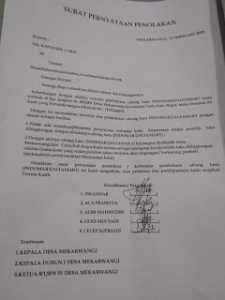 Masyarakat Desa Mekarwangi Tandatangani Petisi Penolakan Pembangunan Indomart