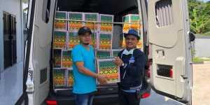 Gerakan Nasional Partai Demokrat Peduli dan Berbagi : DPD Demokrat Jawa barat Bagikan 100 Paket Sembako