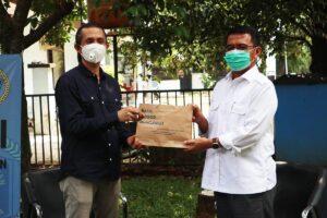 Ade Sarip Hidayat silaturahmi ke PWI Kota Bogor
