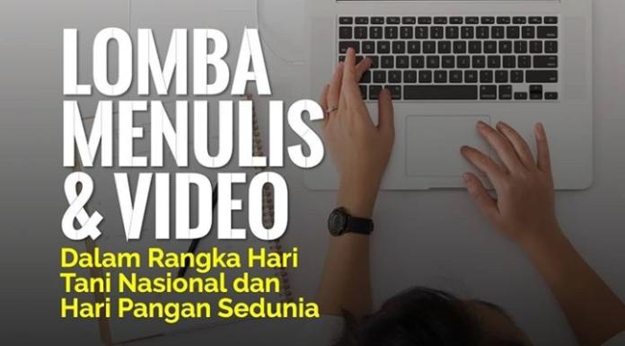 Lomba menulis dan video Tani Center IPB University.