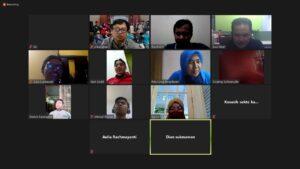 Rapat koordinasi virtual Bina Muda Kwarcab Bogor