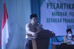 Ketua Kwarcab Lantik Kwarran Tenjolaya Masa Bakti 2020-2023