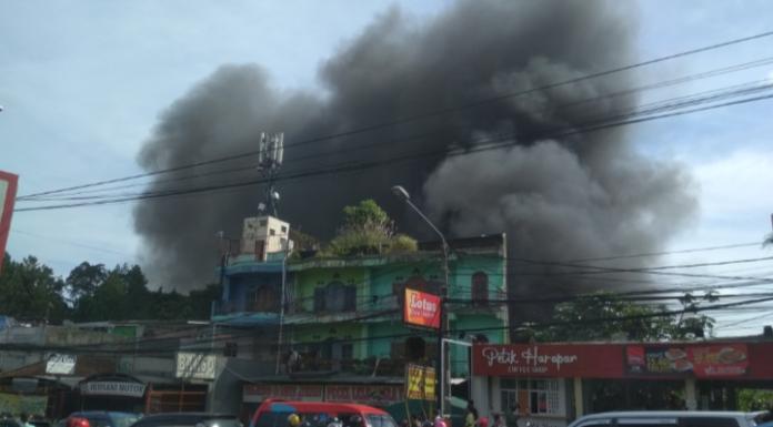Kebakaran di Tajur. (Terkini.id)