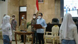 Wali Kota Bogor Bima Arya mengukuhkan FPSH HAM