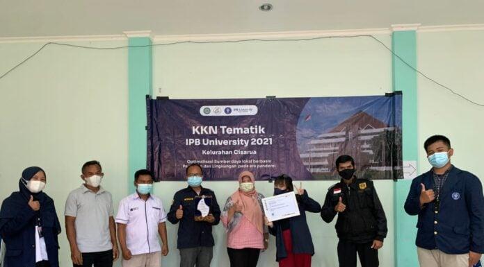 KKN-T Mahasiswa IPB University di Kelurahan Cisarua.